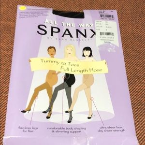 Spanx black hose new in package size B